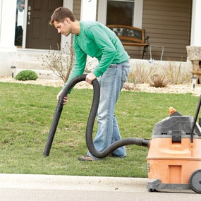 Shop Vac Lawn Cleaning